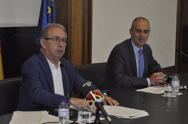 El consejero, Fernando Gimeno, y el director general, Francisco Pozuelo.