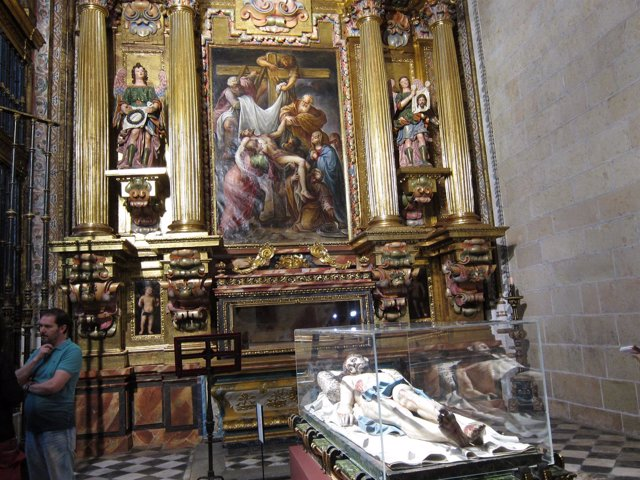 Cristo yacente en la Catedral de Segovia