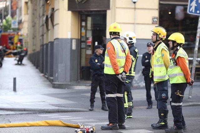 Trabajadores del SAMUR-Protección civil