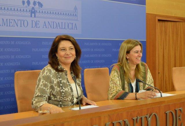 Carmen Crespo y Teresa Ruiz-Sillero, hoy ante los medios