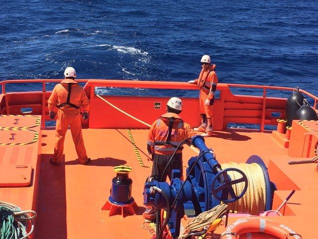 Salvamar Polimnia, de Salvamento Marítimo en Almería
