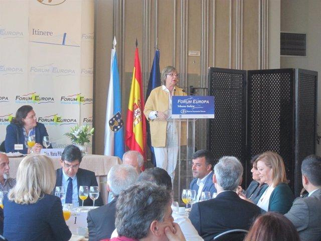 Rosa Quintana en el Forum Europa en Vigo