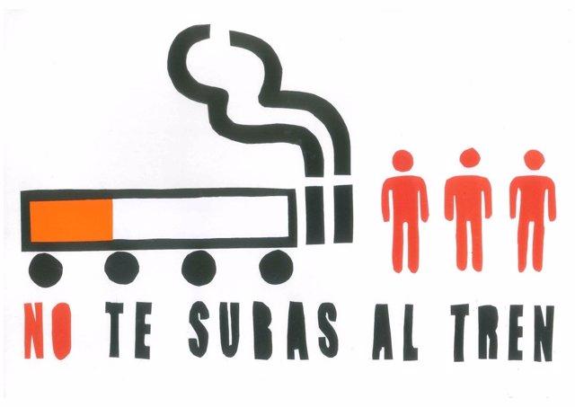 Cartel ganador del concurso escolar de dibujo por el Día mundial sin tabaco