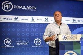 """Monago dice que con Vara en las cumbres hispano-lusas """"no se hizo prácticamente nada"""" del AVE"""