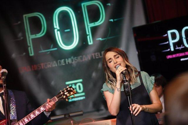 Zahara en la presentación de Pop en Madrid