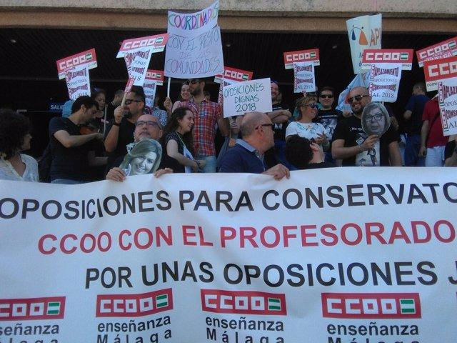 Ccoo málaga profesores interinos conservatorios oposiciones junta