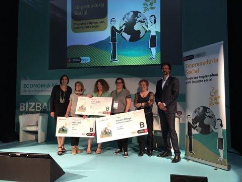 Entrega dels premis Emprenedoria Social de Barcelona Activa