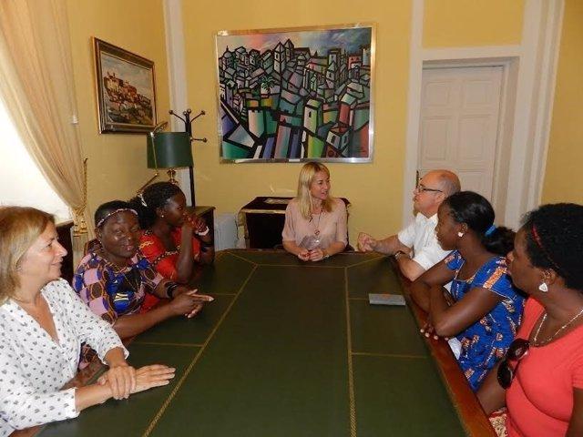 Mujeres de Mozambique que están en Cáceres