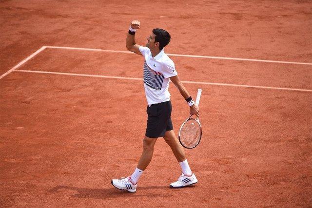 Djokovic celebra la victoria