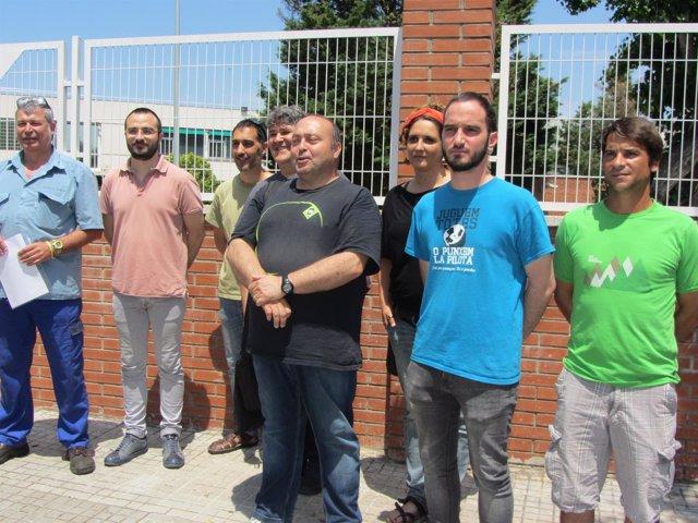 Miembros Del Sindicato FTC De Delphi Conel Diputado De La CUP Albert Botran