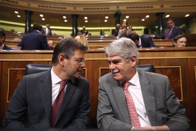 Los ministros Rafael Catalá y Alfonso Dastis