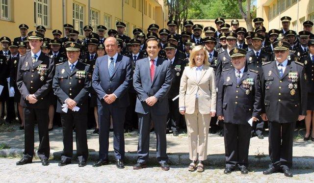 Nieto en la jura de los nuevos inspectores jefe de la Policía