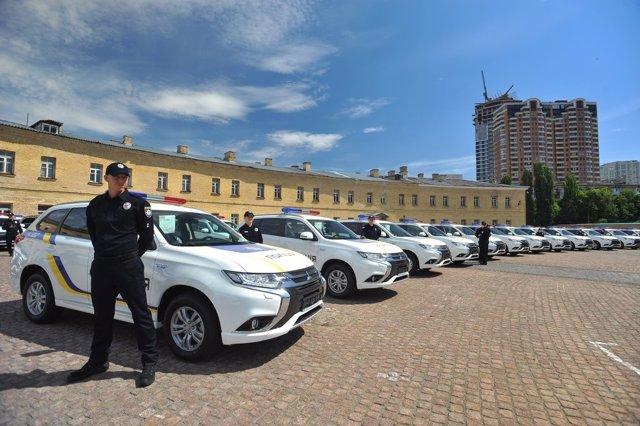 Unidades del Mitsubishi Outlander PHEV de la Policía de Ucrania