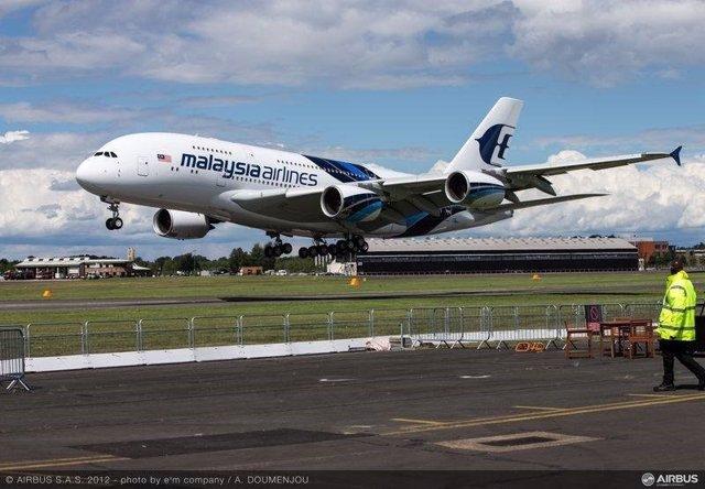 Avión de Malaysia Airlines.