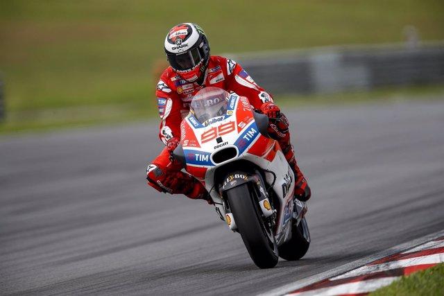 Jorge Lorenzo con la Ducati