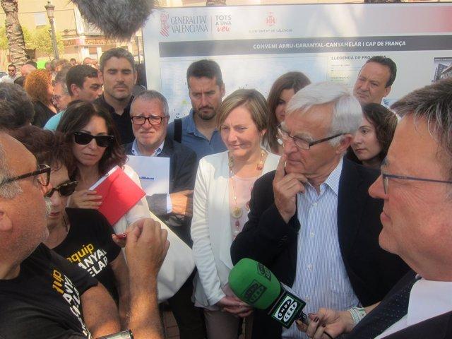 Villora presenta las peticiones de Salvem el Cabanyal a Puig, Ribó y Salvador