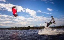 Kiteboarding.