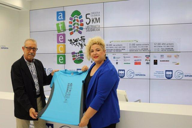 Presentación carrera solidaria ATECE Gipuzkoa