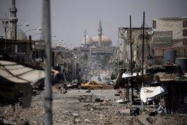 Estado Islámico sella las calles en torno a la mezquita de Mosul para luchar por su bastión en Irak