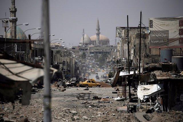 Vista del oeste de Mosul
