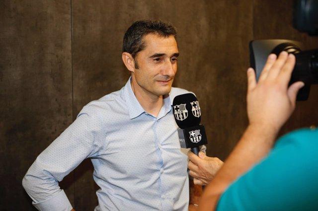 Entrenador del FC Barcelona, Ernesto Valverde