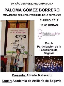 Paloma Gómez Borrero, durante un acto en Segovia.