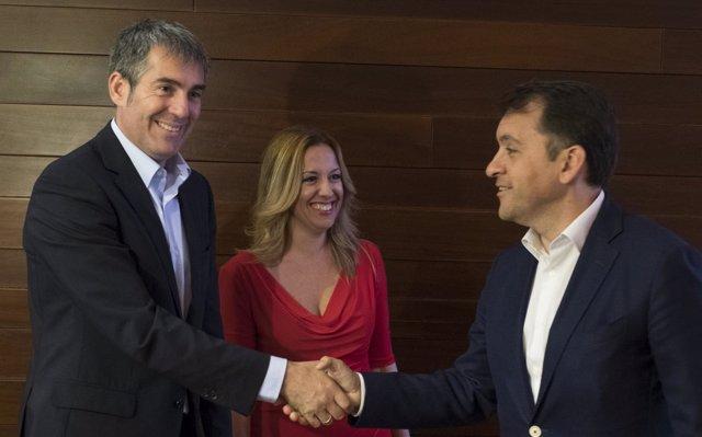 Fernando Clavijo, Rosa Dávila y José Manuel Bermúdez