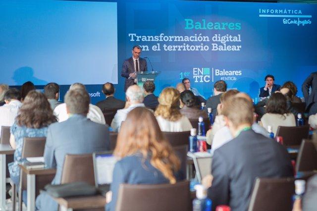 Biel Barceló en el encuentro sobre transformación digital organizado por IECISA