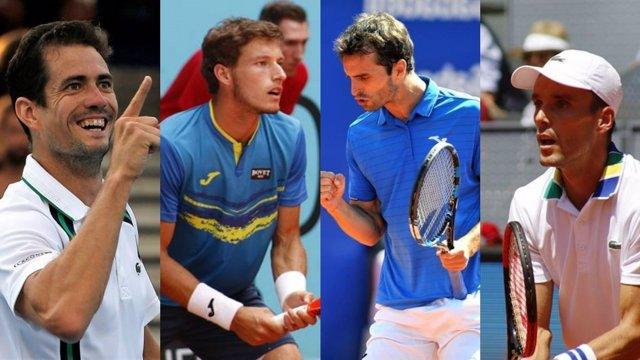 Roberto Bautista, Pablo Carreño, Albert Ramos y Guillermo García-López
