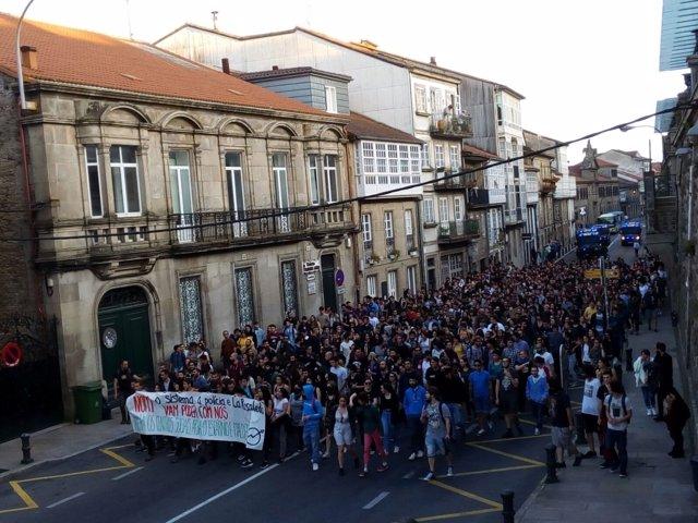 Manifestación en Santiago