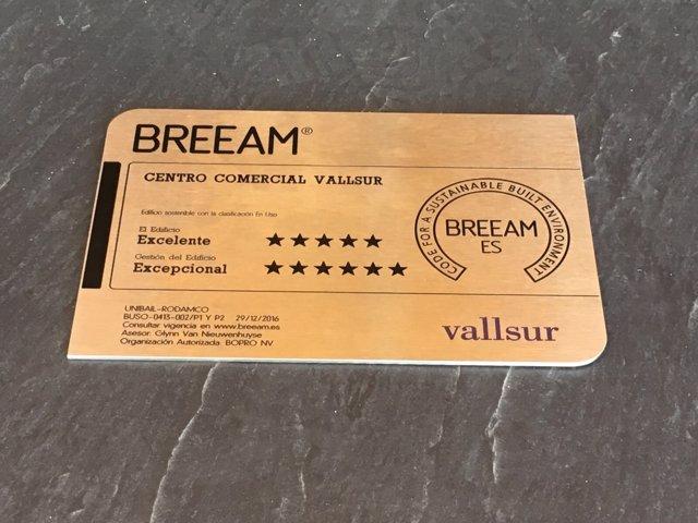 Certificación obtenida por Vallsur.