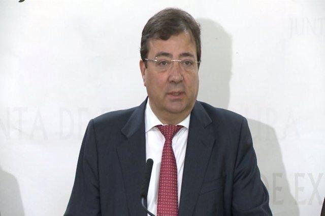 Guillermo Fernández Vara, presidente extremeño