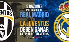 5 razones por las que el Real Madrid o Juventus deben ganar la Champions