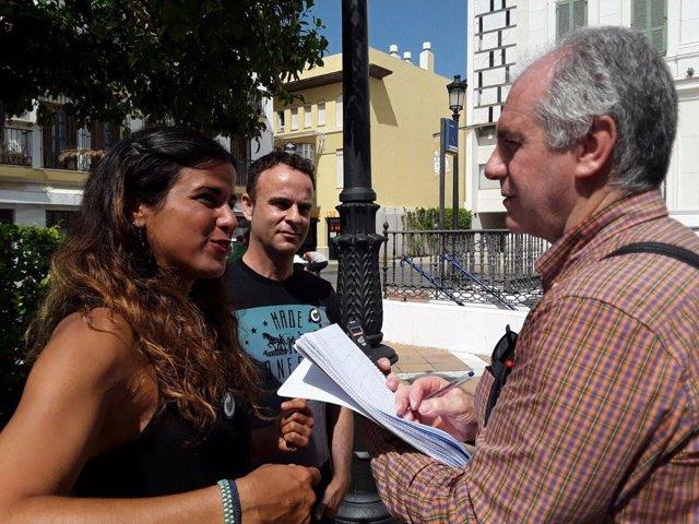 Teresa Rodríguez, este jueves en El Puerto de Santa María (Cádiz)