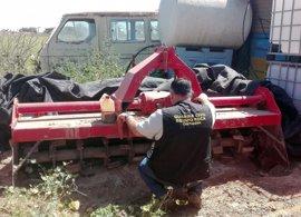 Detenido un individuo por robar herramientas agrícolas valoradas en 50.000 euros en el Campo de Cartagena