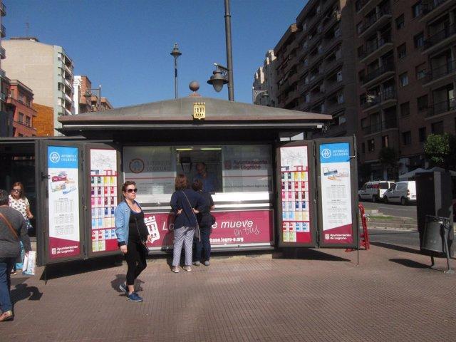 Imagen del nuevo Punto de Información del Transporte Urbano