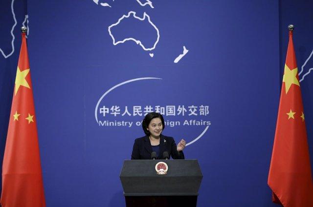 Hua Chunying, portavoz del Ministerio de Exteriores de China