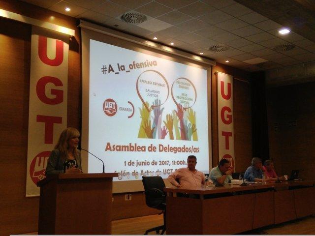 Carmen Castilla, en la sede de UGT