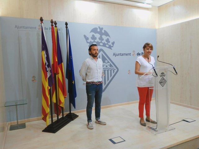 Margalida Durán en rueda de prensa sobre limpieza