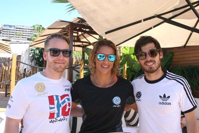 Mads Ostberg, Daida Ruano y David Silva