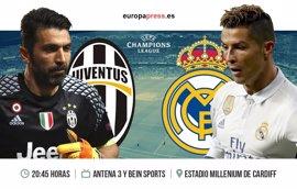 Final de la Champions League 2017: Horario y dónde ver el Juventus – Real Madrid