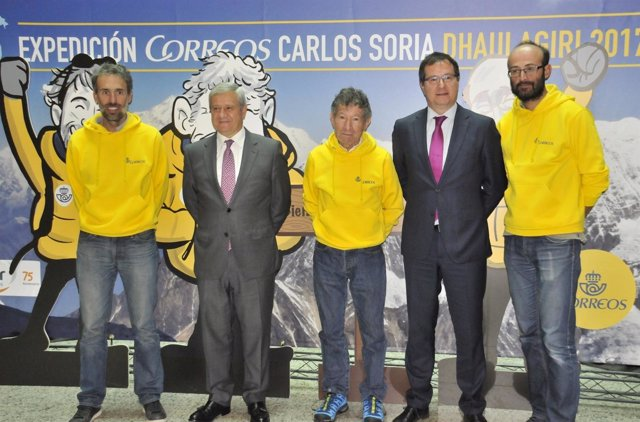 Carlos Soria, con la Expedición Correos