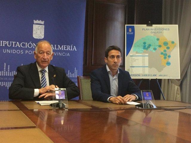 Gabriel Amat y Óscar Liria han presentado el Plan de Inversiones Galasa.