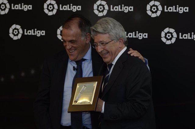 Enrique Cerezo y Javier Tebas