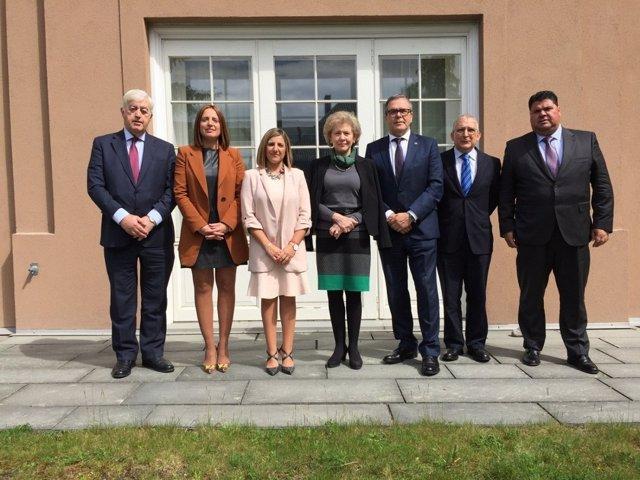 Visita a la embajadora de España en Noruega