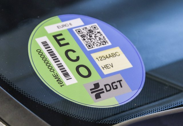 Etiqueta ECO parquímetro Madrid