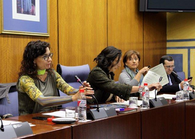 Debate en la Comisión de Hacienda con María Jesús Montero