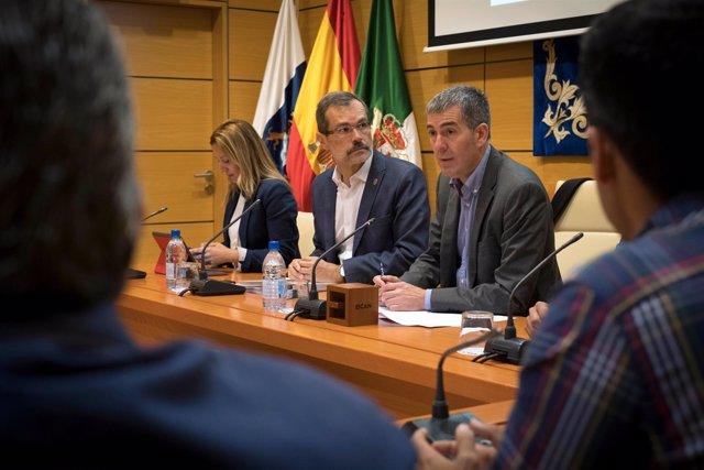 Fernando Clavijo, Marcial Morales y Rosa Dávila