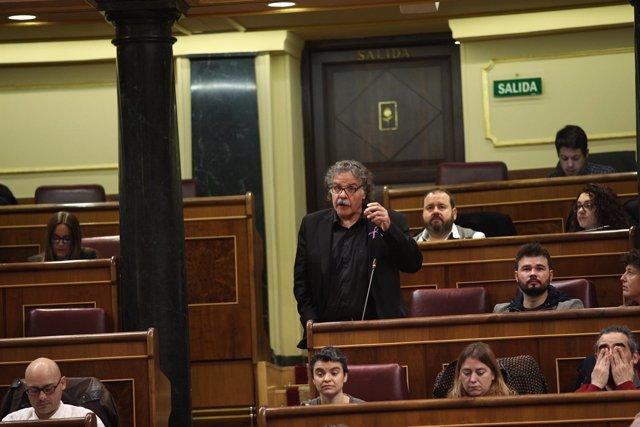 Joan Tarda en la sesión de control al Gobierno