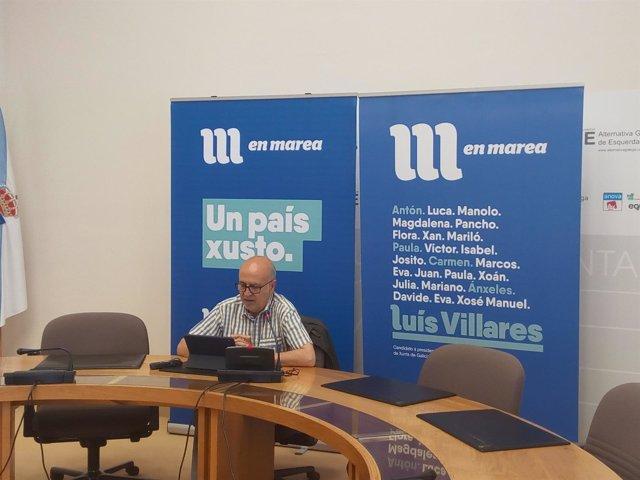 Pancho Casal (En Marea) en rueda de prensa